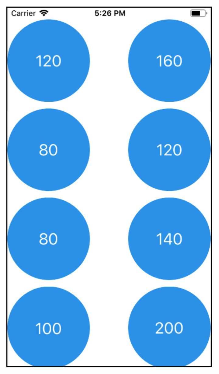 Example of the regular grid layout.