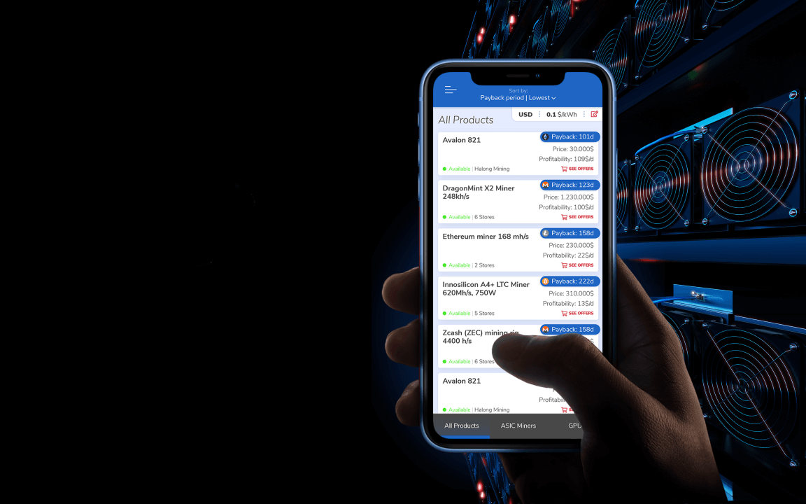 phone screen with cryptominer app