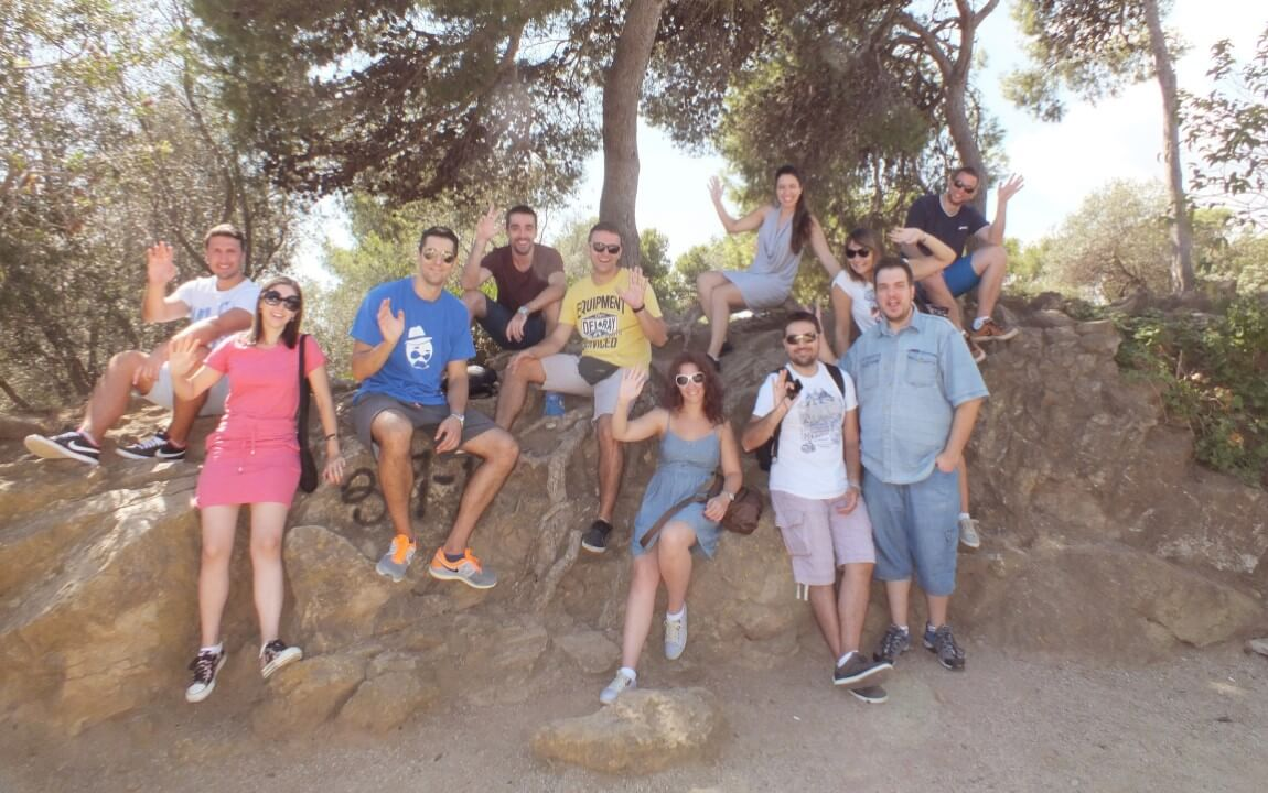 Byteout team in Park Guell