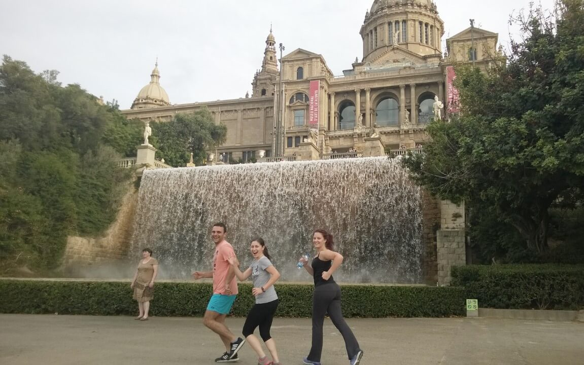 Running around Barcelona